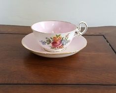 Royal Grafton Tea Cup and Saucer Pink and White