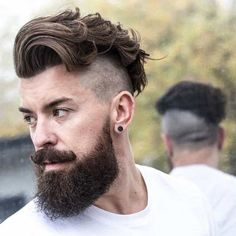 Undercut with Beard Haircut for Men. New Undercut with Beard Haircut for Men - Handsomely Cutthroat Impression. 21 Men S Disconnected Undercut Hairstyles that Look Fresh Af Hipster Hairstyles Men, Mens Hairstyles Fade, Cool Mens Haircuts, Undercut Hairstyles, Men's Haircuts, Long Hair On Top, Long Wavy Hair, Short Hair Cuts, Short Hair Styles