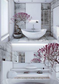 New Bathroom Design Zen Inspiration Ideas Zen Bathroom Design, Zen Bathroom Decor, Bathroom Spa, Bathroom Interior Design, Modern Interior Design, Bathroom Ideas, Asian Interior, Asian Bathroom, Bathroom Storage