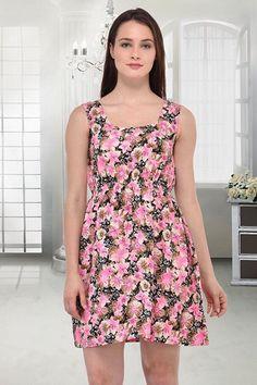 Fancy Readymade Pink Western Wear Dress - 10024