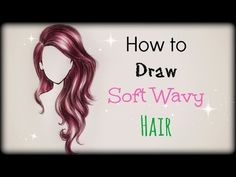 ▶ Drawing Tutorial ❤ How to draw and color Soft Wavy Hair (front view) - YouTube