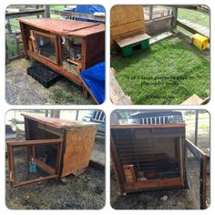 Cowboy's hutch got downsized. His hutch is in one 8'x8' run and he currently has access to another 8x8 run (4 in total; he gets to run around in 2 of them currently) 24/7 so he rarely gets locked in his cage for more than a few hours if needed which isn't often so making his hutch smaller really won't affect him.