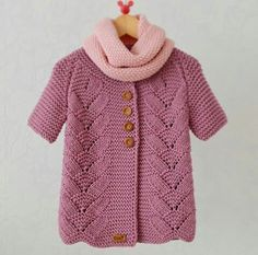 Free Knitting Pattern For Lil Baby Knitting Patterns, Knitting For Kids, Crochet For Kids, Free Knitting, Crochet Baby, Knit Crochet, Cardigan Pattern, Baby Cardigan, Baby Sweaters