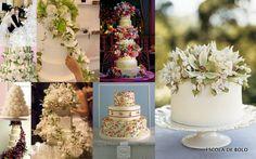 Flores de açúcar, presença quase obrigatória nos bolos de casamento.