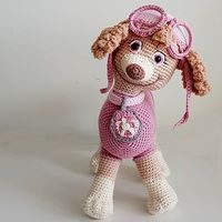Proud moment Day 29 of the challenge by My most proud moment was this Skye dog, which I made for my granddaughter's birthday without pattern, this dog is her favorite fairy-tale hero from Paw Patrol. Crochet Mouse, Crochet Hats, Paw Patrol, Elf, Fairy Tales, Dinosaur Stuffed Animal, Teddy Bear, Toys, Birthday