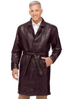 Men's Leather Trench Coats Zoom In Mens Leather Blazer, Leather Trench Coat, Leather Men, Leather Jacket, Jacket Men, Trench Coats, Real Leather, Shop Now, Mens Fashion