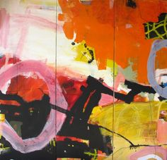 Jean-Charles Millepied, 150cm x 150cm, acylic collages pigments on canvas, Triptych, 2014
