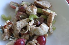 Chicken a Salad with Grapes and Pecans