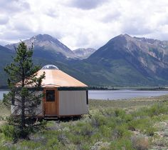 a yurt with a view.