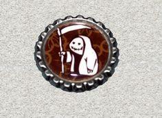 -s022- Kronkorken Magnet SENSENMÄNNCHEN, bottlecap von Mondcatze´s Zauberwerkstatt auf DaWanda.com