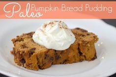 Paleo Pumpkin Bread Pudding