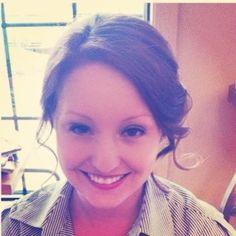 #Lindsey Walters, hair stylist at Fusion Aveda salon and spa, #romantic updo #Loose updo #bridal updo