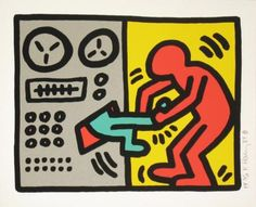 Keith Haring, Pop Shop (Quad III), 1989.