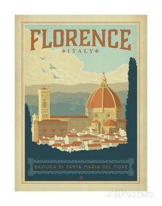 Florence, Italie Affiches par Anderson Design Group sur AllPosters.fr