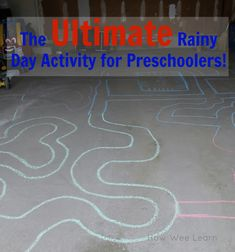 It's Spring! Goodbye snow, and hello rain!  Time for some rainy day activities!  This one is awesome for preschoolers - simple to set up and keeps little ones busy for HOURS!