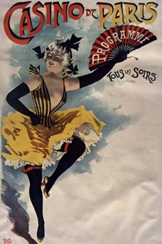 Poster by Pal (1855-1942), 1890, Casino de Paris. #Music_Hall