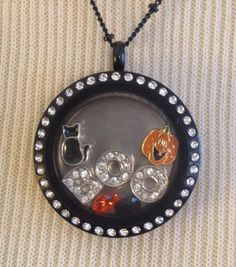 Halloween Black Cat & Pumpkin Boo Charm Lot  by LoveLivingLockets, $25.99 for Origami Owl lockets