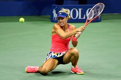 September 04, 2016 - Angelique Kerber in action against Petra Kvitova during the…