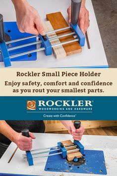 Rockler Small Piece Holder Enjoy safety, comfort and confidence as you rout your smallest parts.