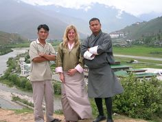 Carolyn Hamer-Smith, General Manager of the Australian Himalayan Foundation, in Kira overlooking Paro Valley.