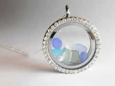 Sea Glass Locket  Sea Glass Necklace  The SEA by SeaFindDesigns, $30.00