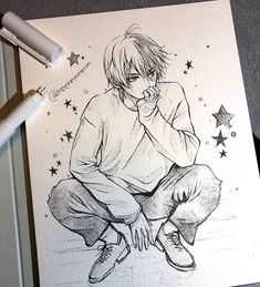 Likes, 29 Comments - Daily Art Features Anime Boy Sketch, Anime Drawings Sketches, Manga Drawing, Manga Art, Anime Art, Cartoon Drawings, Amazing Drawings, Cute Drawings, Anime Poses