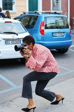 Tamu McPherson spotted on the street at Milan Fashion Week. Photographed by Phil Oh.