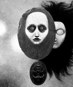 Artwork by Julio Mirim(Brazil. Arte Horror, Horror Art, Creepy Art, Scary, Arte Obscura, My Demons, Surreal Art, Dark Art, Painting & Drawing