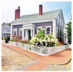 A house on the corner. Nantucket