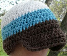 The Blue Crab Stitches At Midnight: Cotton Newborn Cap