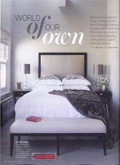 Yves Delorme Athena white #linen and Triomphe platine #PillowCases in EKBB magazine