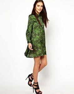 Image 4 ofGlamorous Swing Shirt Dress In Paisley Print