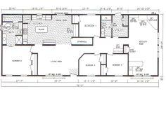 floor plan for 4 bedroom 3 bathroom mobile home | bedroom modular home floor plans