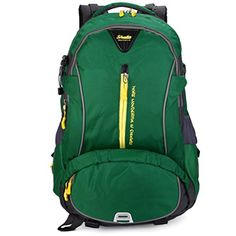 HANRUI 40L Outdoor Expandable multipurpose Tactical Backpack Military Sport Camping Hiking Trekking Bag green * Click on the image for additional details.