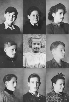 Portraits of Jewish children who were saved by the residents of the village Le Chambon-sur-Lignon. During the Nazi occupation the village residents hid these children and other Jews. France, 1942/1943