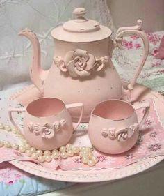 Vintage Pink Tea Tray