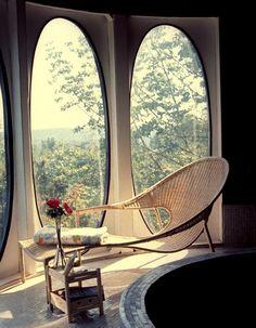 Oval-shaped windows
