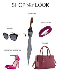 Favorite accessories that much perfectly with our magenta outfit.
