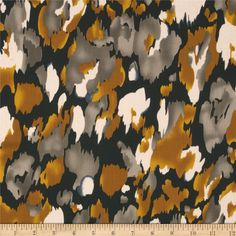Monet Rayon Shirting Black/Gold