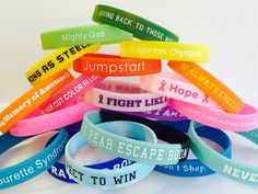 Custom Silicone Wristbands, order 100, get 100 free! no minimum, design your own.