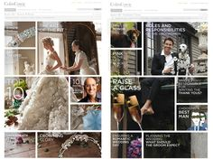 By using the grid system, the image and text are easily to distinguish, and people see the content clearly.