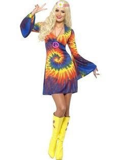 2ac890bfaf68 1960s Ladies Tie Dye Costume | Online Joke Shop 1960s Costumes, Girl  Costumes, Adult
