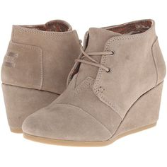 d4dda04b91f TOMS Desert Wedge (Taupe Suede) Women s Wedge Shoes ( 70) ❤ liked on