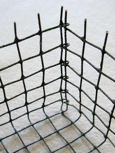four corners design: Wonderfully wired hardware cloth baskets