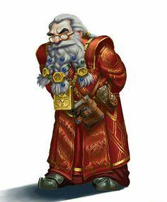 Old Dwarf Wizard - Pathfinder PFRPG DND D&D d20 fantasy