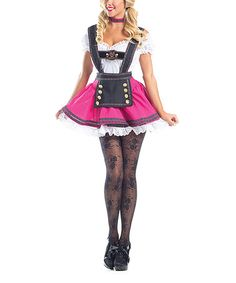 Look what I found on #zulily! Magenta & Black Swiss Beauty Costume Set - Women #zulilyfinds