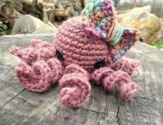 Olivia the Amigurumi Octopus  Wool Toy by WyandotteWears on Etsy, $16.50