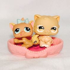 Littlest Pet Shop LPS Orange Mom Cat 490 Kitten 1335 Lot of 2 | eBay