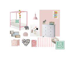 Kids Girl Bedroom project. Interior design service. E design