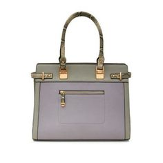 New Look Light Grey Contrast Zip Front Tote Bag €39.99
